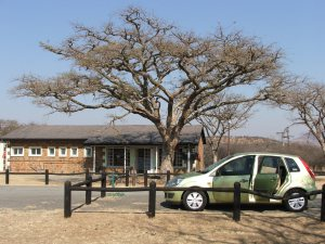 The entrance to Weenen Game Reserve